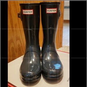 HUNTER Black Boots Womans SZ.8